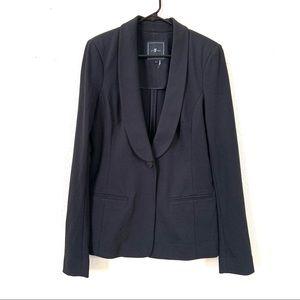 7 for all Mankind Single Button Black Blazer L
